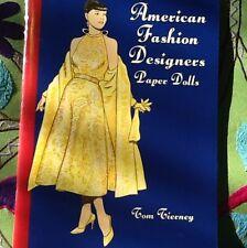 American Fashion Designers Paper Dolls Tierney New Book Mizrahi Wang Herrera +++