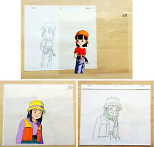 LOT OF 2 - Dragon Ball GT Pan Anime Animation Production Cel & Douga (B15)