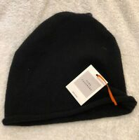 John Lewis Ladies Beanie Hat 100% Cashmere BLACK * New with tags *