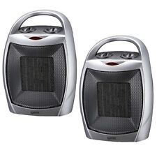 2 x Igenix IG9030 Ceramic Electric Fan Heater, Ideal for Small Rooms & Caravans