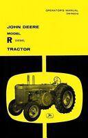John Deere Model R Diesel Tractor Operators Manual JD