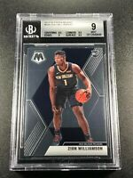 ZION WILLIAMSON 2019 PANINI MOSAIC #209 ROOKIE RC BGS 9 W/2 9.5 SUBGRADES (A)