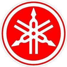 "#575 (1) 3.5"" Yamaha Logo Racing Decal Sticker Laminated R1 R6 Drums Red"