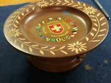 Vintage Reuge Wood Rotating Music Bowl, Swiss Musical Movement Switzerland. Nice