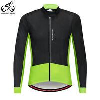 Winter Men's Cycling Jacket Windproof MTB Bike Bicycle Fleece Jersey Coat Tops
