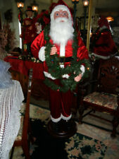 Life Size Animated 6 Foot Santa in Tangled Lights Christmas Store Display