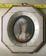 Beautiful hand painted miniature of a court lady, nicely framed.