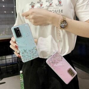 Luxury Glitter Phone Case Lanyard Soft Cover For Samsung S9 S10 S20 Note 9 10 20