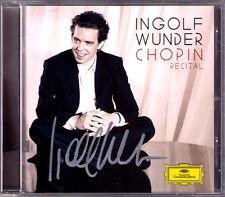 Ingolf WUNDER Signed CHOPIN Piano Sonata No.3 Ballade No.4 Polonaise-Fantasie CD