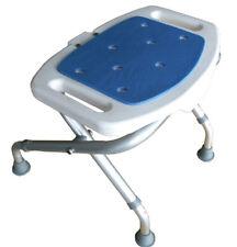 TABOURET DE BAIN PLIANT BLUE SEAT marche pieds anti-dérapant en alu