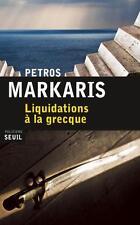 liquidations à la grecque Markaris  Petros Occasion Livre