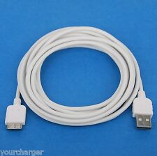 5M 16ft LONG Fast Charger ONLY USB Cable WHITE for Samsung Galaxy S5 SM-G900