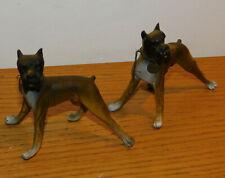 vintage LOT KLEBER CHIEN DOGUE Figurine DOG hund en PLASTIQUE