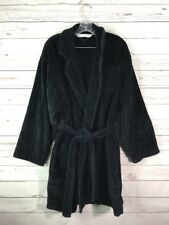 VICTORIAS SECRET THICK ABSORBENT BLACK TERRY Short BATH Robe Sz M Medium