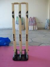 MB Malik Cricket Heavy Duty Spring Loaded Stumps Spring Wickets