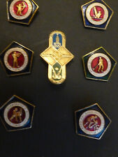 SEVEN RUSSIAN OLYMPIC  BADGES SUMMER 1980