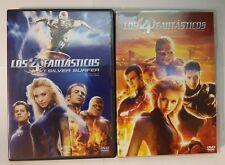 PELICULA DVD PACK LOS 4 FANTASTICOS 1+2