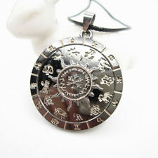 Stainless Steel Astrological Sign 12 Constellation Plate Pendant Chain Necklace