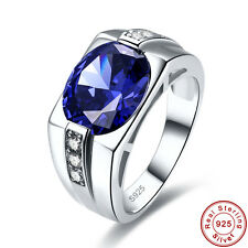 Free Jewelry Box Unisex Tanzanite 100% 925 Sterling Silver Ring Size N½ P½ R½ T½