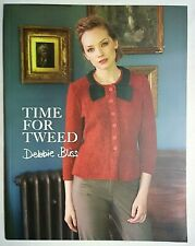 Debbie Bliss Time For Tweed Knitting Patterns Women's Tunic Sweater Coats Jacket