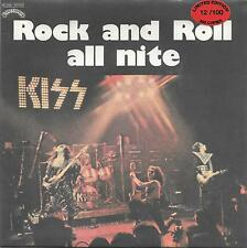 """KISS - RARO 45 GIRI RED VINYL LIMITED EDITION """" ROCK AND ROLL ALL NITE """""""