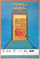 Affiche Poster André Juillard Le temps des livres 1996 40x60 cm