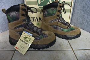 New Women's Tamarack Camo Insulated Waterproof Hunting Boots 9.5 Free Ship 9 1/2