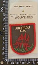 VINTAGE ORROROO AUSTRALIA EMBROIDERED SOUVENIR PATCH WOVEN CLOTH SEW-ON BADGE