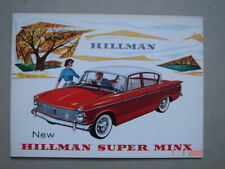 HILLMAN  New Super Minx  brochure / Prospekt  ca.1965.