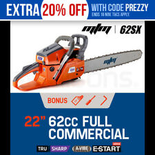 "MTM 62cc Petrol Commercial 22"" Bar E-Start Chainsaw"