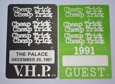 Cheap Trick Vintage Satin Backstage Passes 1987 & 1991 Unused