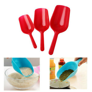3Pcs Plastic Multifunctional Pet Food Spoon Dog Cat Puppy Scoop Hand Shovel