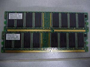 Hynix 512 MB DIMM 333 MHz DDR SDRAM Memory HYMD232646A8J-J Number of Modules 2