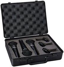 Proel Dm800kit 3 Microfoni con Supporti per Asta microfonica e Custodia Karaoke