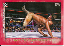 """2015 TOPPS WWE UNDISPUTED JAKE """"THE SNAKE"""" ROBERTS """"FAMOUS FINISHERS"""" DDT! RED"""