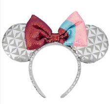New Disney Parks Epcot Ball Bubblegum Spaceship Earth Minnie Mouse Ear Headband