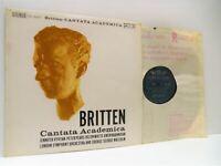 BENJAMIN BRITTEN cantata academica, etc LP EX/EX, SOL 60037 vinyl, l'oiseau-lyre