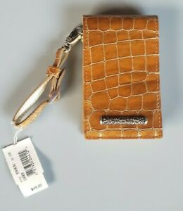 Brighton Apple Ipod Nano Holder Case Wristlet Metallic Croc pattern