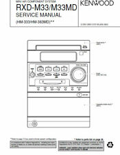 KENWOOD HM-333 HM-383MD RXD-M33 RXD-M33MD SERVICE MANUAL HIFI COMPONENT SYSTEM