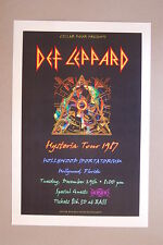 Def Leppard Concert Tour Poster 1987 Hollywood Florida