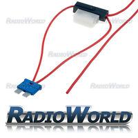 Inline 8A ATC Blade Fuse Tap Car Audio Quick Ingition Live Splice Add Circuit