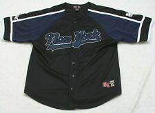 New York MC 2000 Jersey Shirt XL Button Front Short Sleeve Polyester X-Large Top