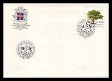 Iceland 1985 FDC, Centenary of the Horticultural Society of Iceland. Lot # 2.