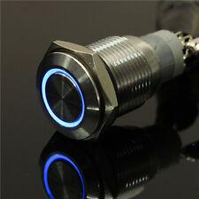 interruttore PULSANTE ANTIVANDALO IN Metallo 16 MILLIMETRI 12V A LED 5 colori