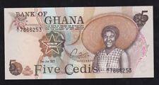 GHANA ----- 5  CEDIS  1977 ------ UNC ------