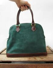 ROOTS Canada Vintage Pine Green Leather CANADIAN PACIFIC Dome Bag Satchel Purse