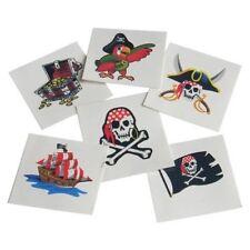 144 Pirate Themed Temporary Tattoos