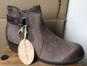 Ladies EARTH SPIRIT El Reno Stone Nubuck Leather Boots - Size 8 (U.K.) New