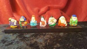 Shichi-fuku-jin The 7 Lucky Gods Japanese Mythology Mini Figures on 150mm Plinth