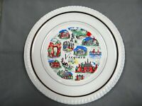 VIRGINIA  - Decorative Collector Plate - Landmarks and Features - vintage